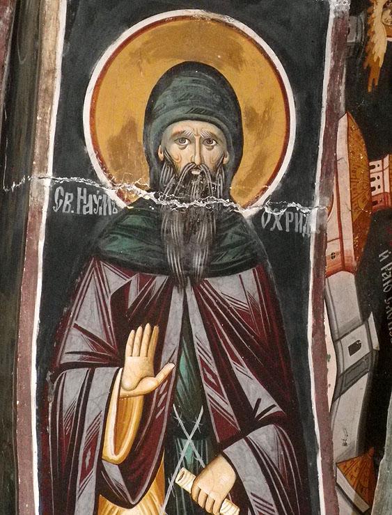 Св. Наум - стенопис в Зографския монастир
