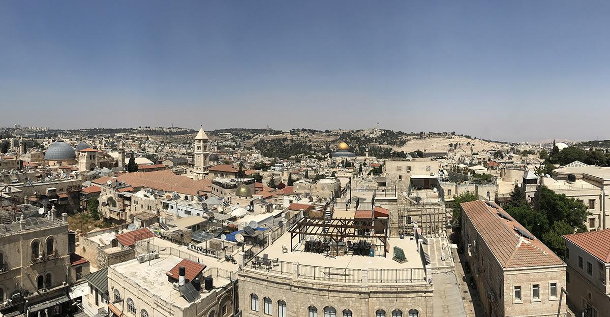 Старият Иерусалим и Елеонският хълм на заден план