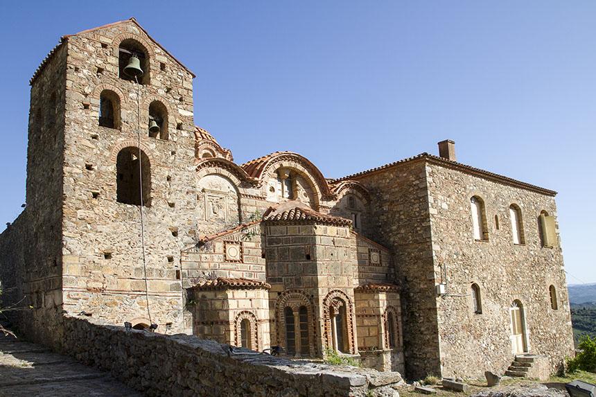 Митрополитската църква Св. Димитър (1310) в Мистра, Долният град