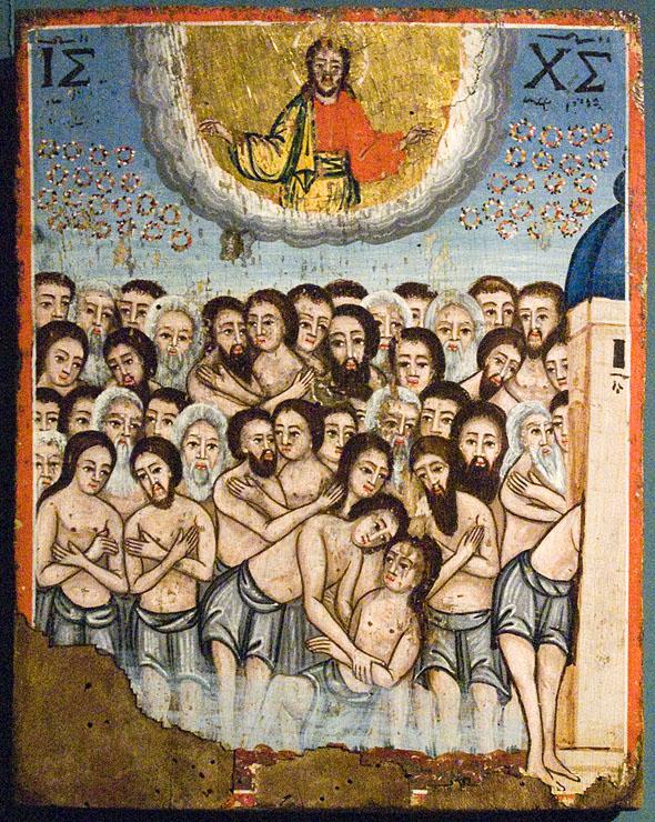 Св. 40 мъченици - икона от 19. век от Църковния музей в Александруполи